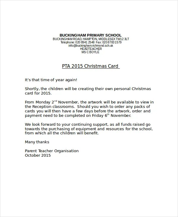 Christmas Letter Template - 9+ Free Word, PDF, PSD Documents