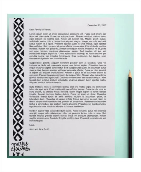 Christmas Letter Template - 9+ Free Word, PDF, PSD Documents - christmas letterhead templates word