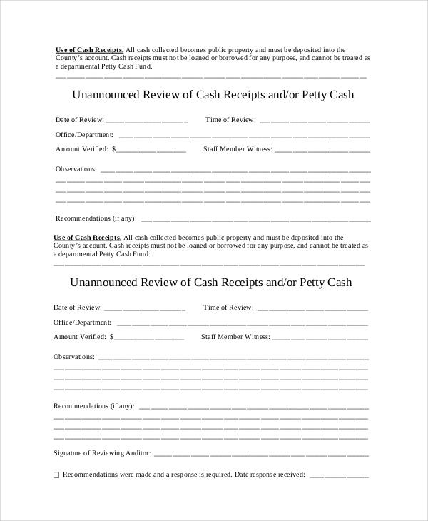 Cash Receipt Template - 15+ Free Word, PDF Documents Download Free - petty cash receipt template