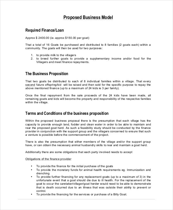 Business Proposal - 19+ Free PDF, Word, PSD Documents Download