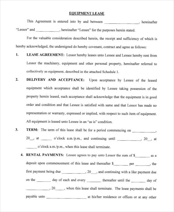 Printable Blank Lease Agreement Form - 17+ Free Word, PDF Documents - printable rental agreement