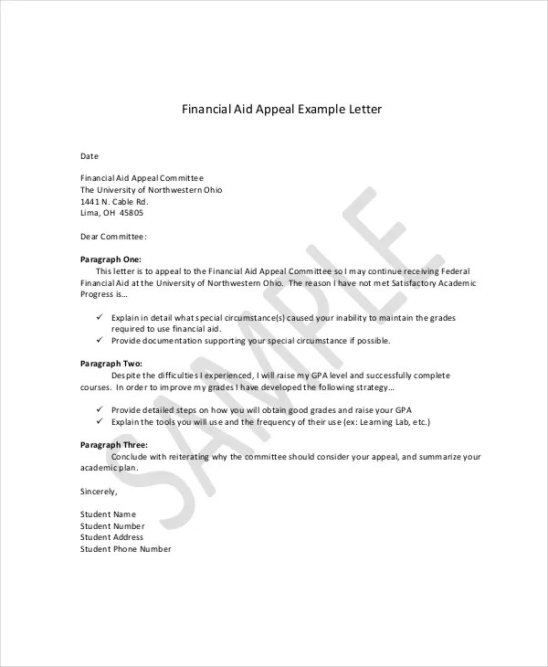 Appeal Letter Example - 11+ Free Word, PDF Documents Download Free