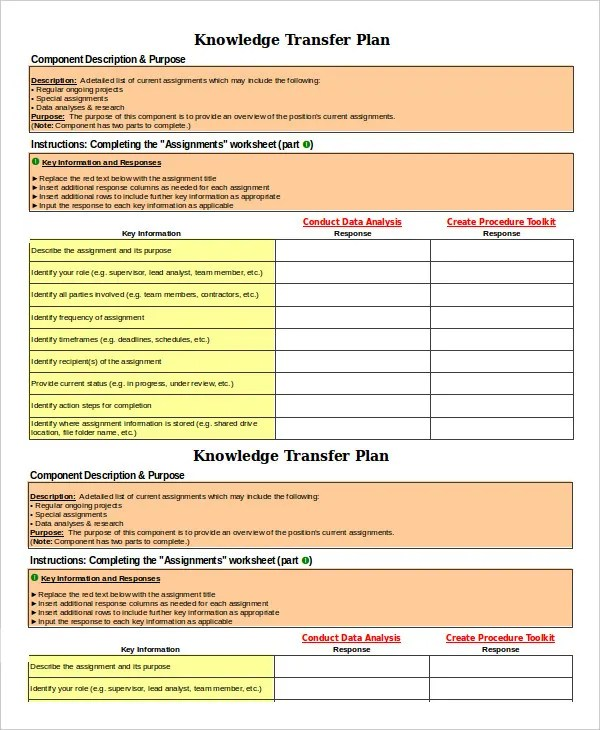 Transition Plan Template - 6+ Free Sample, Example, Format Free - transition plan template