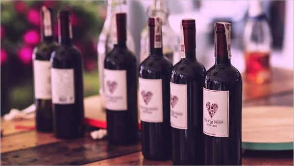 34+ Beautiful Wine Label Designs - PSD, Vector AI, EPS Free