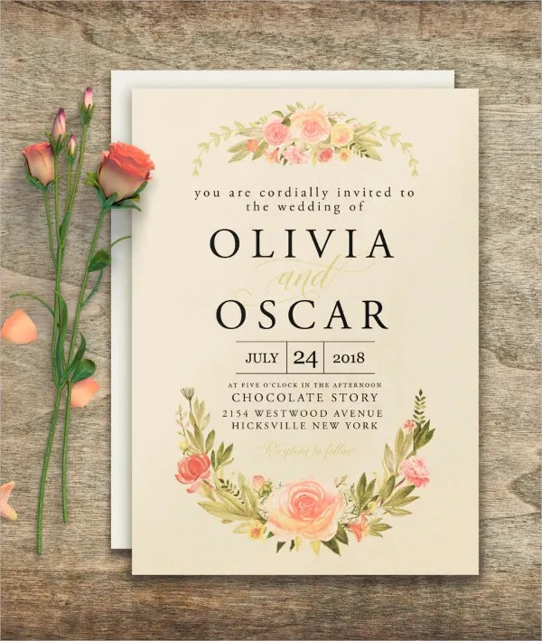 30+ Elegant Wedding Invitations - Free PSD, Vector AI, Ep Free - wedding template
