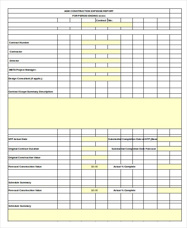 Expense Report Template - 11+ Free Sample, Example, Format Free - examples of expense reports