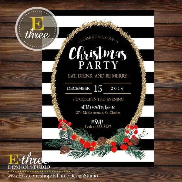 21+ Christmas Party Invitation Templates - Free PSD, Vector AI, EPS