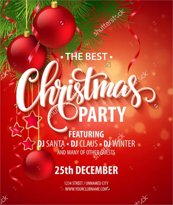 21+ Christmas Party Invitation Templates - Free PSD, Vector AI, EPS - free holiday party invitation template
