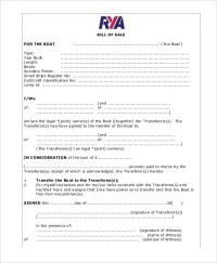 5+ Boat Bill Of Sale - Free Sample, Example, Format | Free ...