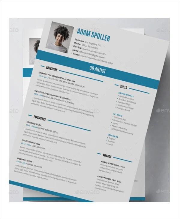 15+ Artist Resume Examples - PDF, DOC Free  Premium Templates