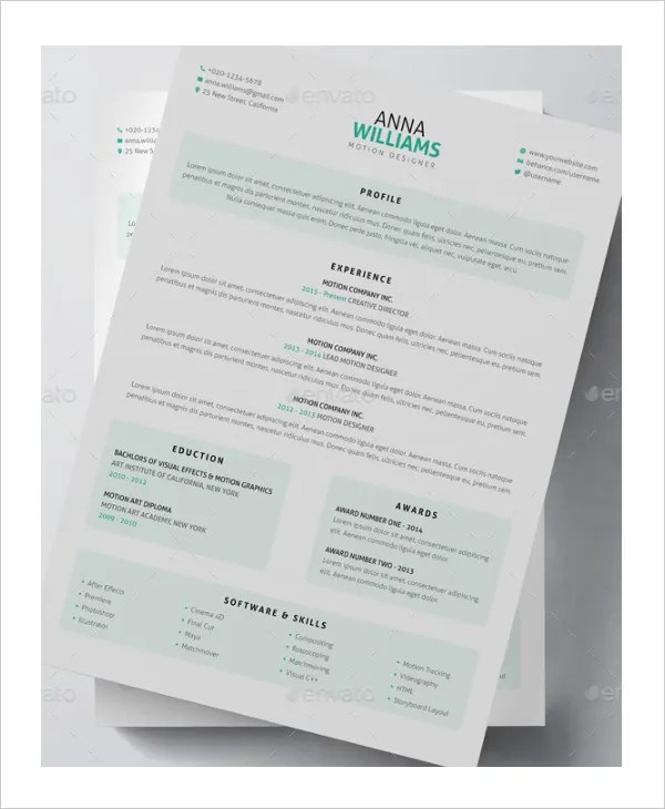 15+ Artist Resume Examples - PDF, DOC Free  Premium Templates - Sample Artist Resume