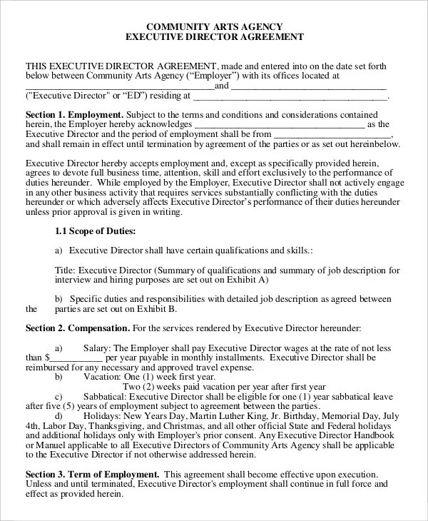 Employment Agreement Contract Employment Agreement Letter Examples - physician employment agreement