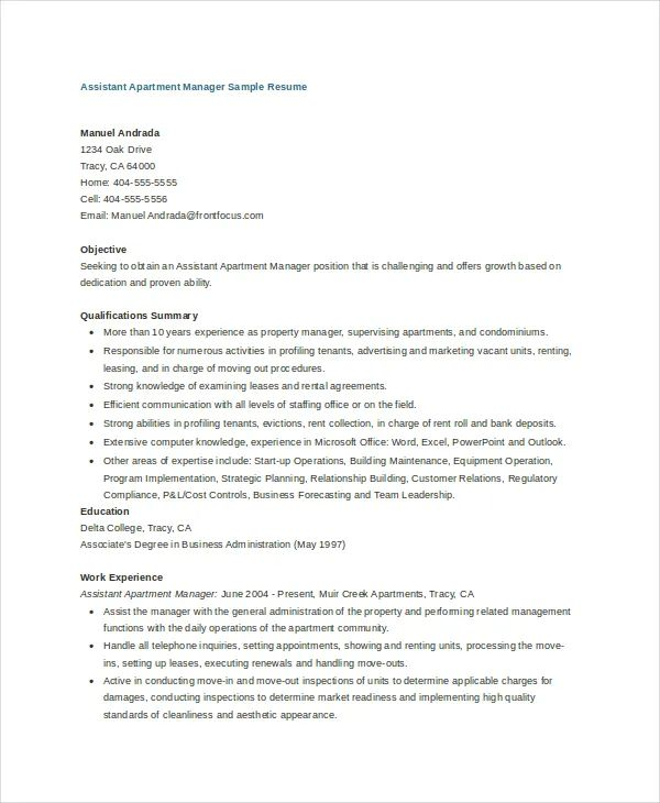assistant project manager resume examples
