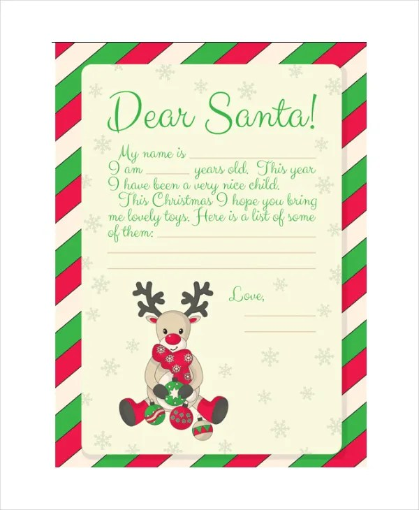 Santa Letter Template - 9+ Free Word, PDF, PSD Documents Download