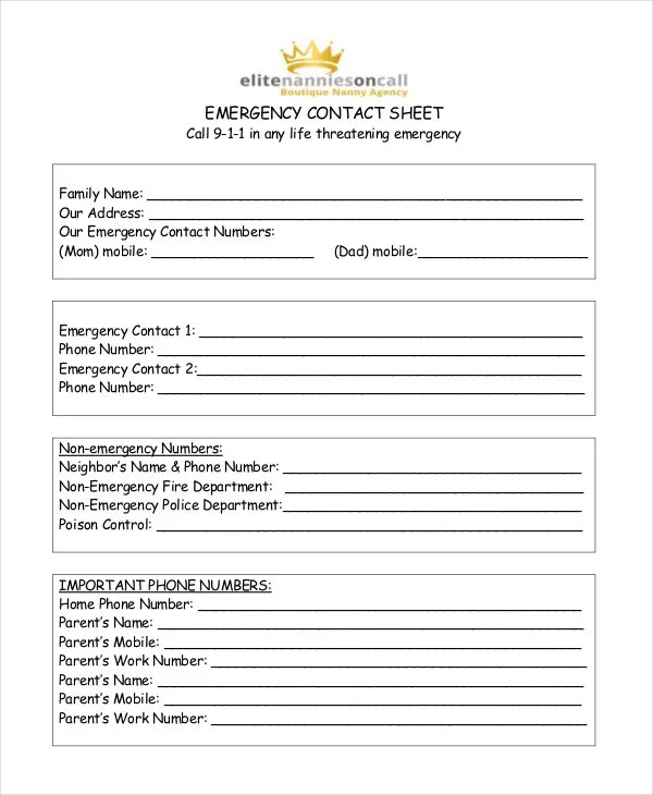 Free Contact List Template - 10+ Free Word, PDF Documents Download