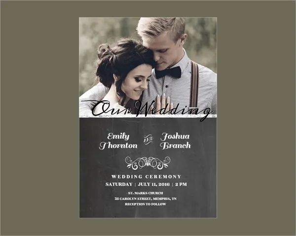 sample wedding invitation template