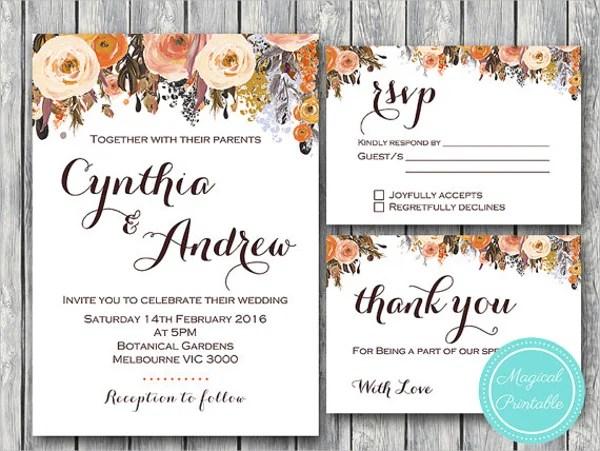22+ Wedding Invitations Free  Premium Templates