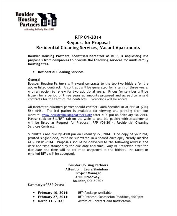 cleaning proposal pdf