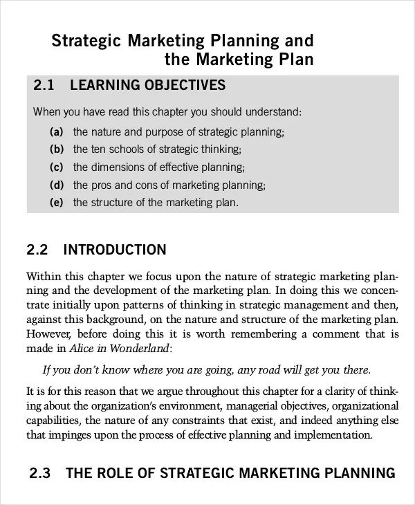 Marketing Plan Template - 23+ Free Word, Excel, PDF, PPT Documents