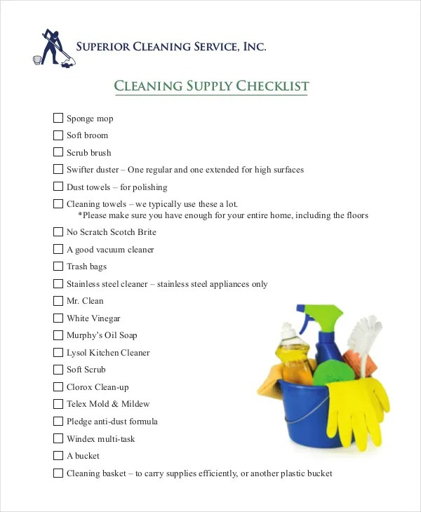 House Cleaning Checklist - 12+ Free PDF Documents Download Free
