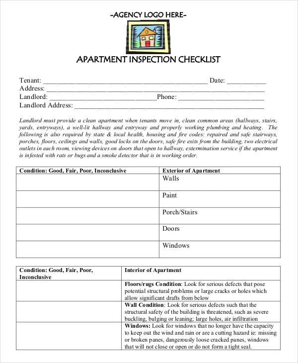 New Apartment Checklist - 9+ Free Word, PDF Documents Download - sample new apartment checklist