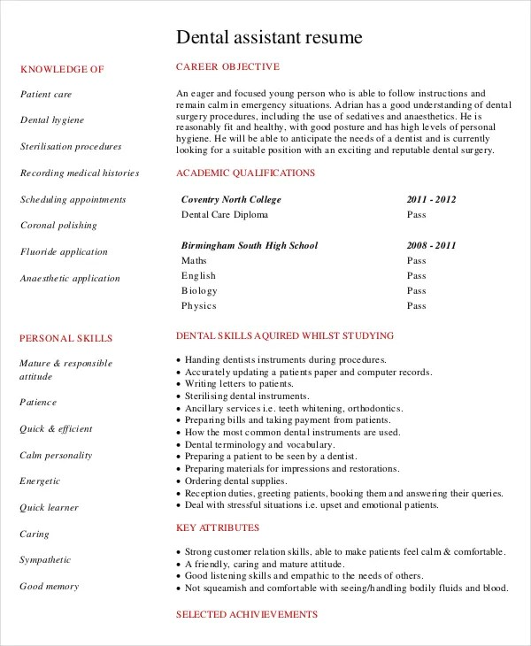 Orthodontic Assistant Resume Cvresumeunicloudpl  Orthodontic Assistant Resume