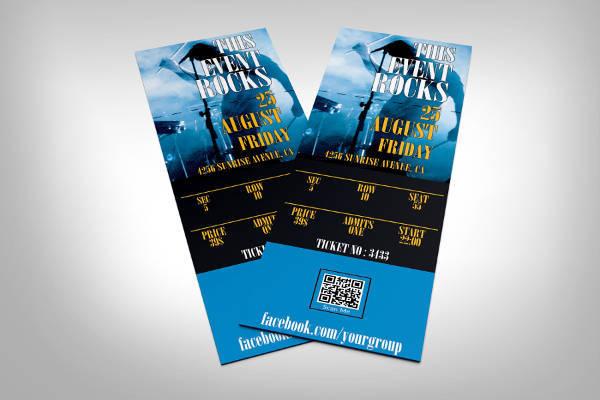 34+ Printable Event Ticket Templates  Mockups - PSD, Ai, Word