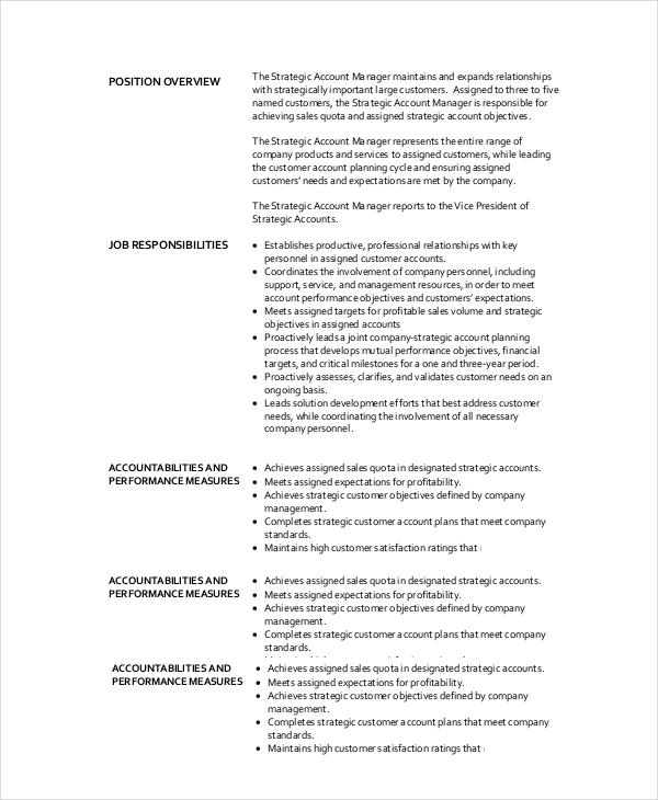10+ Sample Manager Job Description Templates - PDF, DOC Free - vice president job description
