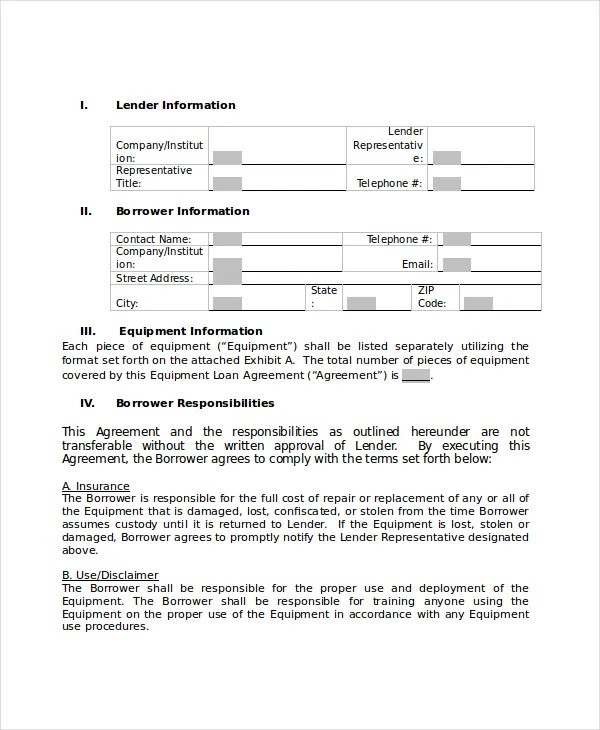 Loan Agreement - 10+ PDF, Word Documents Download Free  Premium - company loan agreement template