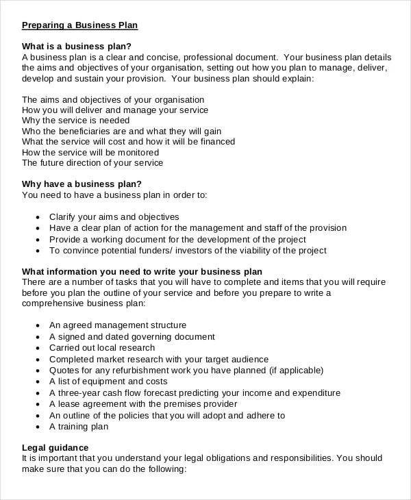 20+ Business Plan Templates Free \ Premium Templates - service plan templates