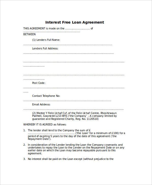 Money Lending Agreement Template – Money Lending Agreement Format