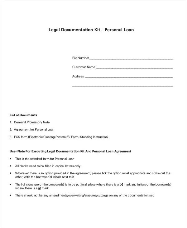 Loan Agreement Template - 9+ Free Word, PDF Document Download - loan templates