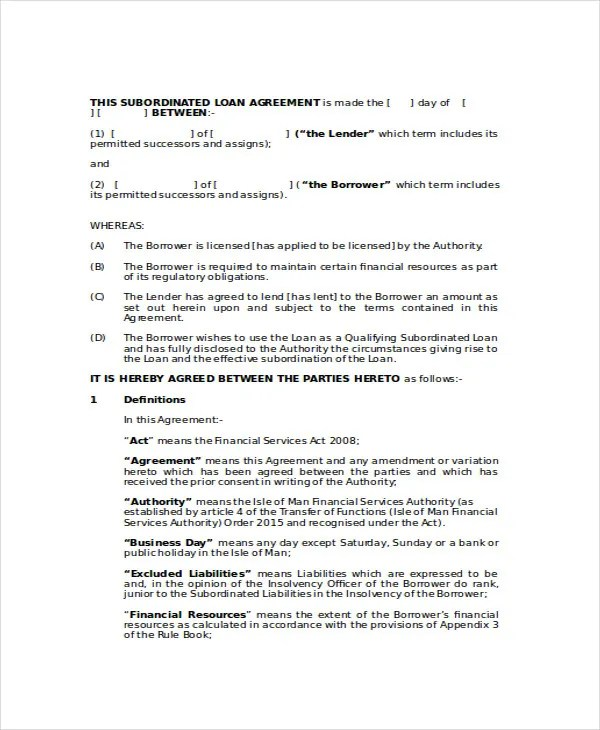 Loan Agreement Template - 14+ Free Word, PDF Document Download