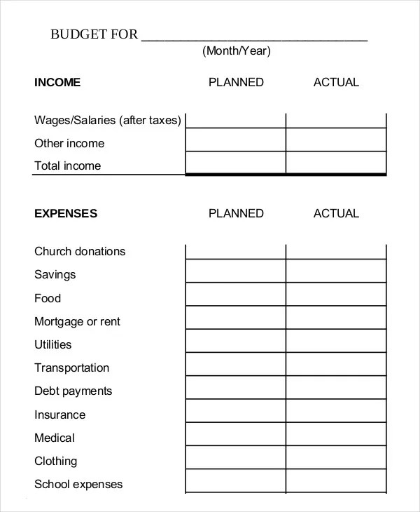 Monthly Budget Planner Template - 10+ Free Excel, PDF Documents