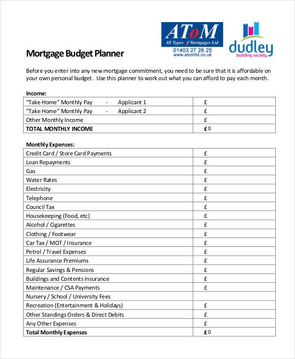 budget planning worksheet free