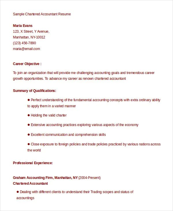 13+ Accountant Resume Templates - PDF, DOC Free  Premium Templates - accountant resume sample word