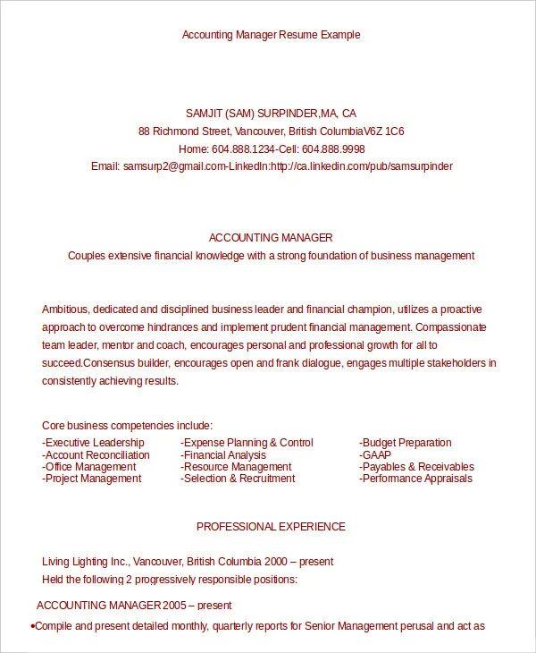 simple resume sample doc download