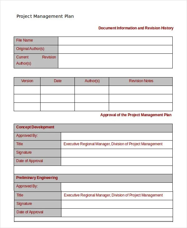 Project Management Template - 10+ Free Word, PDF Documents Download