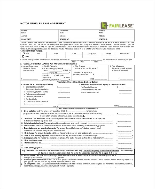 Commercial Lease Agreement - 10+ Free PDF, Word Documents Download - commercial truck lease agreement