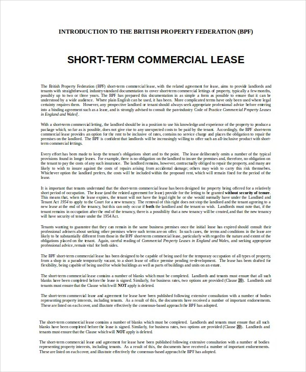 13+ Commercial Lease Agreements - Word, PDF, Pages Free  Premium