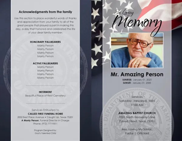 17+ Funeral Program Templates Free  Premium Templates - funeral flyer template