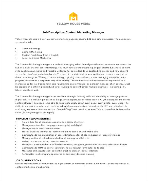 Digital Marketing Job Description  NodeCvresumePaasproviderCom