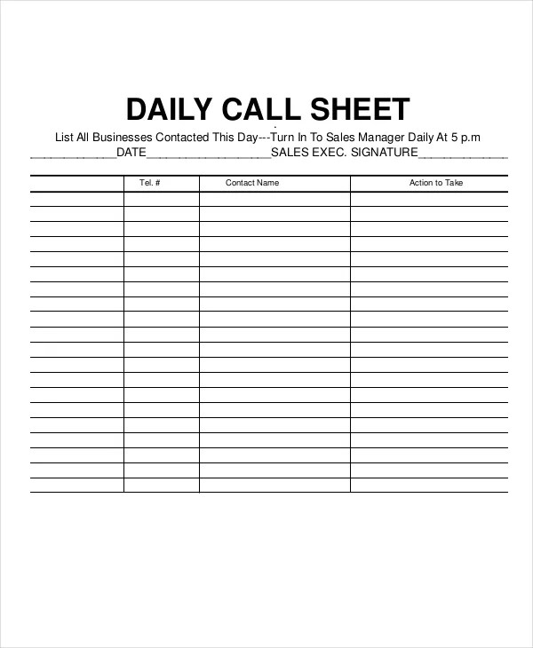 call logging sheet - Josemulinohouse - contact log template