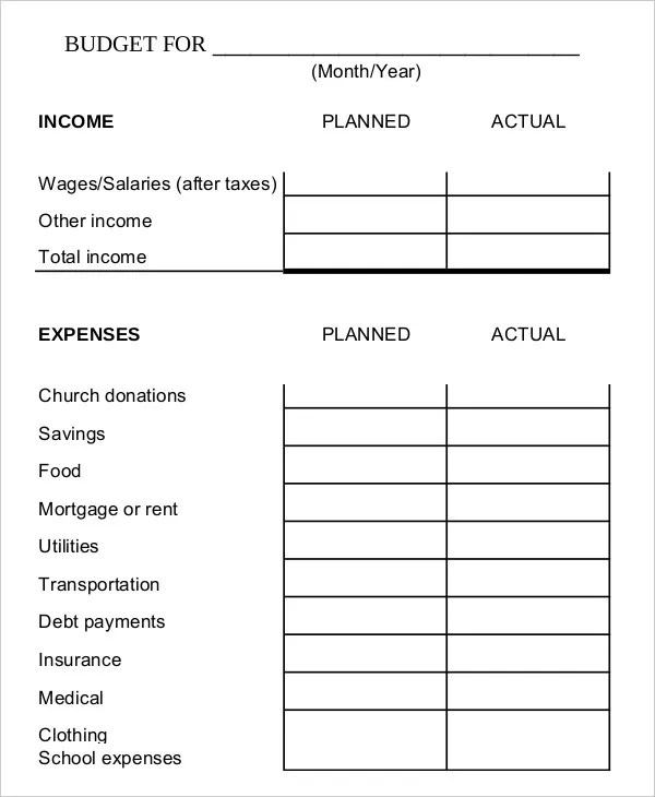 Family Budget Template - 9+ Free Sample, Example, Format Free
