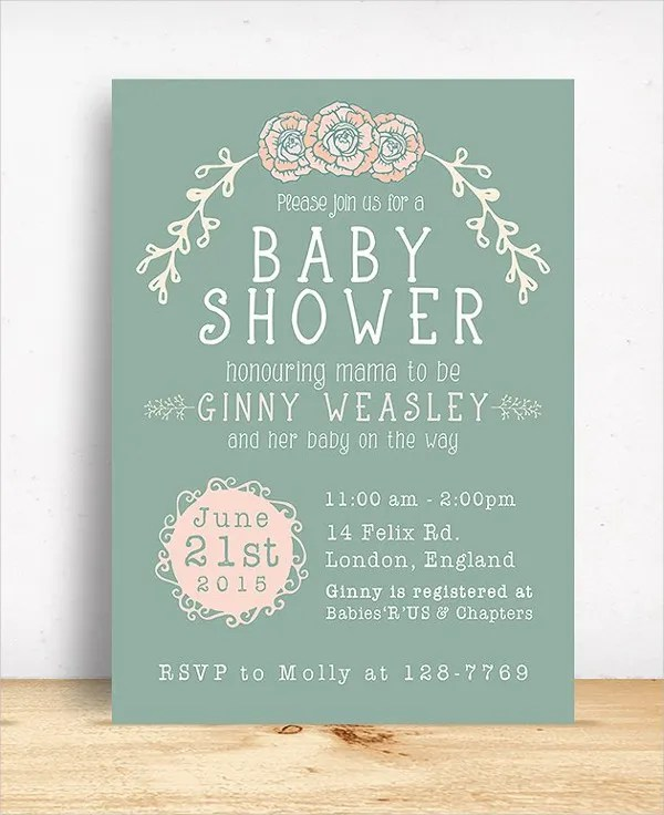 19+ Baby Shower Cards - Free PSD, Vector AI, EPS Format Free
