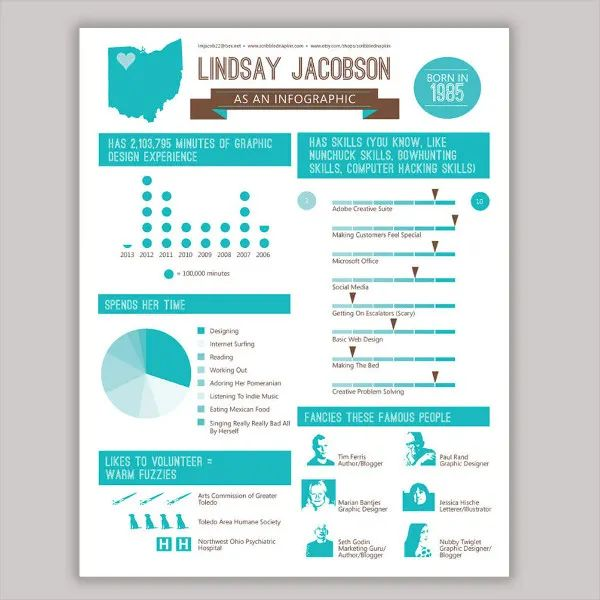 template resume cv infographic free download