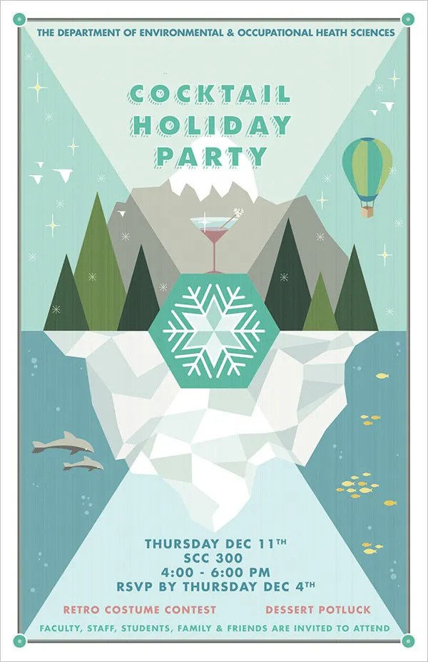 19+ Holiday Party Invitations - Free PSD, Vector AI, EPS Format - holiday party flyer template