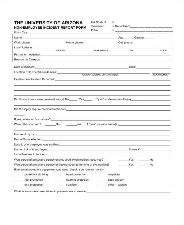 20+ Sample Incident Report Templates - PDF, DOC Free  Premium