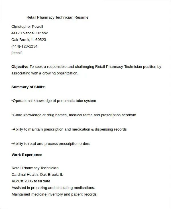 resume example conclusion