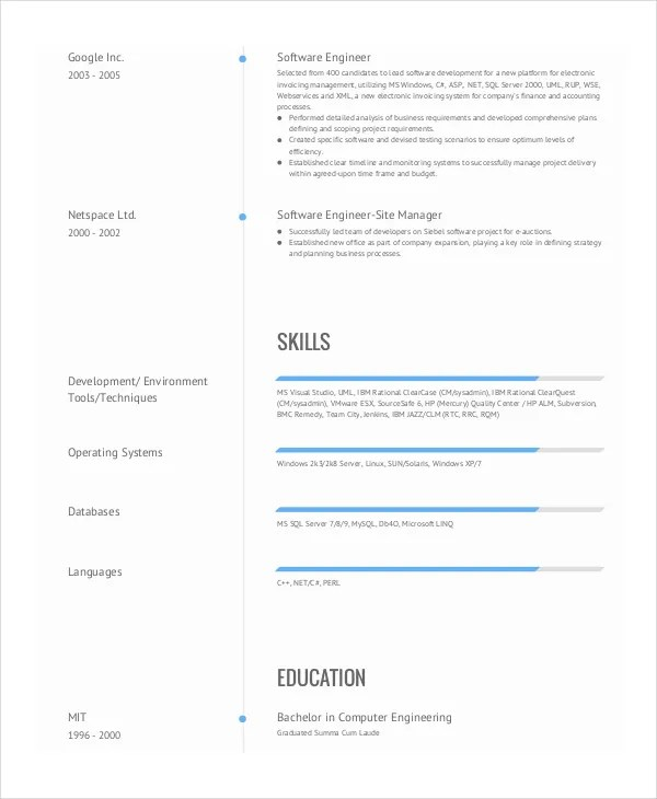 9+ Engineering Resume Templates - PDF, DOC Free  Premium Templates
